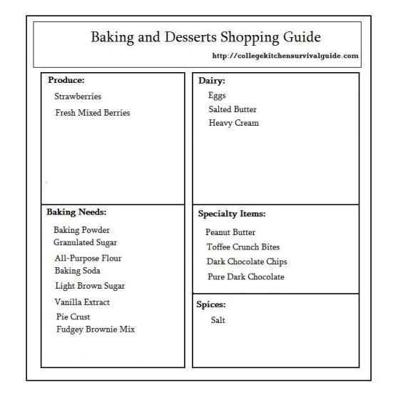 Baking and Desserts Guide Template