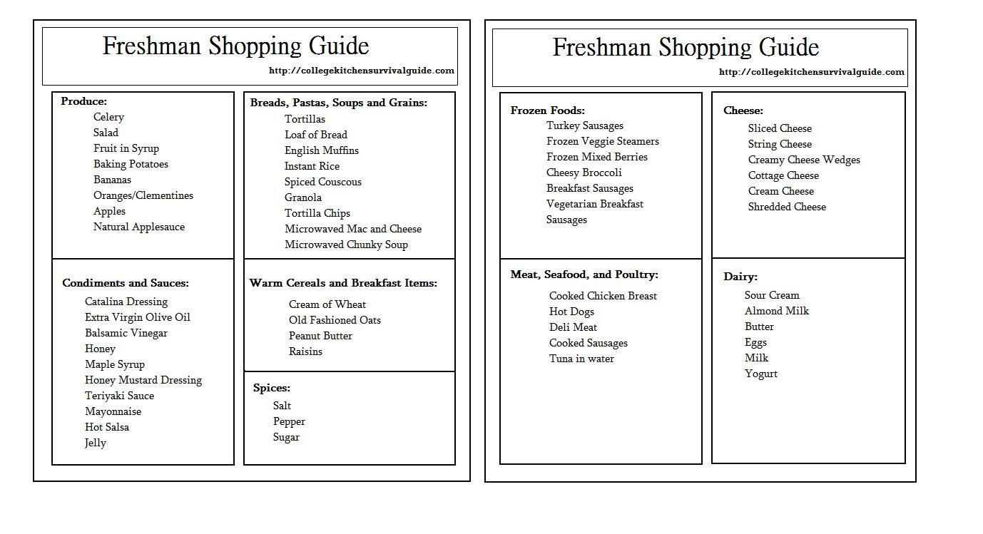 mikala sonia the college kitchen survival guide freshman guide template