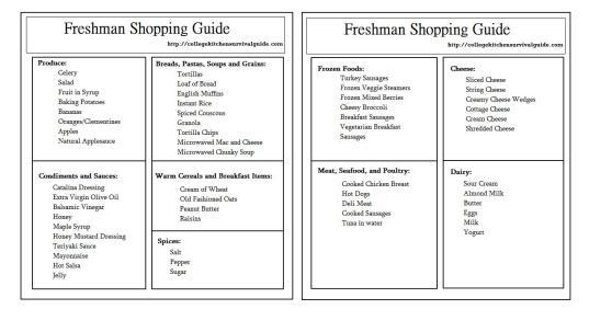 Freshman Guide Template