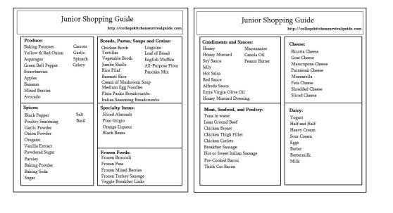 Junior Guide Template