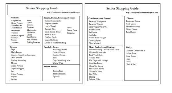 Senior Guide Template