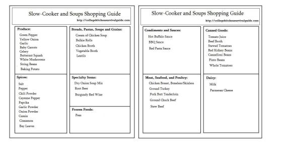 Slow-Cooker and Soup Guide Template