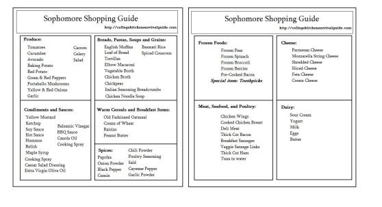 Sophomore Guide Template